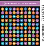 learning and education icon set ... | Shutterstock .eps vector #731437531
