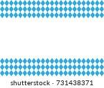 oktoberfest checkered... | Shutterstock .eps vector #731438371