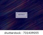 abstract artistic rainbow... | Shutterstock .eps vector #731439055