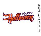 happy halloween card template.... | Shutterstock .eps vector #731440741