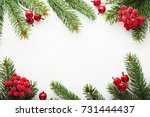 christmas background with xmas... | Shutterstock . vector #731444437