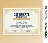 elegant certificate of... | Shutterstock .eps vector #731447101