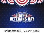 happy vererans day background... | Shutterstock .eps vector #731447251