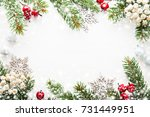 christmas background with xmas...   Shutterstock . vector #731449951
