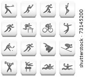 athlete icon on square black... | Shutterstock .eps vector #73145200