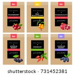 packaging design. concept label ... | Shutterstock .eps vector #731452381
