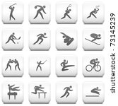 sport icon on square black and... | Shutterstock .eps vector #73145239