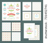 christmas labels and badges... | Shutterstock .eps vector #731452741