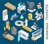 modern pharmaceutical industry... | Shutterstock .eps vector #731453755
