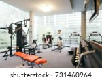 abstract blur fitness equipment ... | Shutterstock . vector #731460964