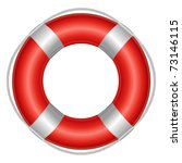 red life buoy  isolated on... | Shutterstock .eps vector #73146115