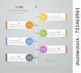 timeline infographics design... | Shutterstock .eps vector #731463961
