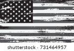grunge american flag.vector... | Shutterstock .eps vector #731464957