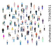 different groups of people ... | Shutterstock .eps vector #731465011