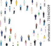 many different people  detailed ... | Shutterstock .eps vector #731465209