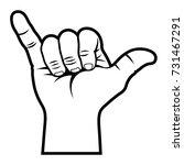 shaka hand sign   vector... | Shutterstock .eps vector #731467291
