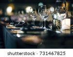 luxury table settings for fine... | Shutterstock . vector #731467825