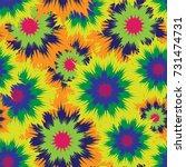 tie dye seamless. seamless... | Shutterstock .eps vector #731474731