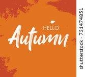 autumn season  vector... | Shutterstock .eps vector #731474851