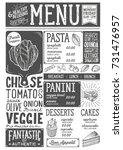 organic menu for restaurant and ... | Shutterstock .eps vector #731476957