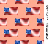 independence day usa flags... | Shutterstock .eps vector #731482321