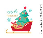 holiday greeting picture with... | Shutterstock .eps vector #731482975