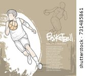 basketball player in action... | Shutterstock .eps vector #731485861