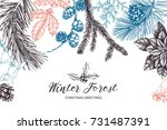 vector background with hand... | Shutterstock .eps vector #731487391
