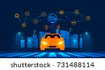 smart car wireless network... | Shutterstock . vector #731488114