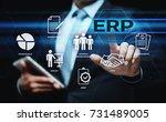 enterprise resource planning... | Shutterstock . vector #731489005