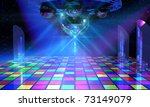 colorful dance floor with... | Shutterstock . vector #73149079