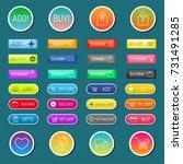 colorful website web e shop... | Shutterstock .eps vector #731491285