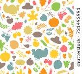 thanksgiving day symbols vector ... | Shutterstock .eps vector #731493991