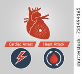 cardiac arrest and heart attack ... | Shutterstock .eps vector #731494165