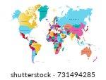 world map | Shutterstock .eps vector #731494285