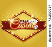 casino banner with chips and... | Shutterstock . vector #731500219