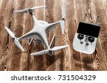 white drone isolated on a... | Shutterstock . vector #731504329