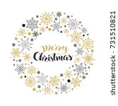 merry christmas greeting card... | Shutterstock .eps vector #731510821