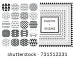 collection of 20 abstract... | Shutterstock .eps vector #731512231