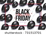black friday rectangular... | Shutterstock .eps vector #731513701