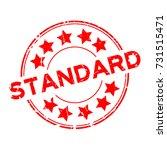grunge red standard wording... | Shutterstock .eps vector #731515471