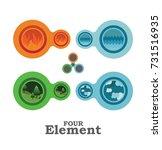 four element    Shutterstock .eps vector #731516935