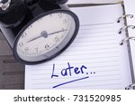 procrastination and urgency... | Shutterstock . vector #731520985