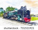 Vintage Steam Train In Thailan...