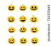 pumpkin set vector | Shutterstock .eps vector #731525665