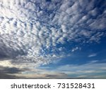 blue sky with clouds at sunset | Shutterstock . vector #731528431