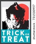 halloween poster   trick or... | Shutterstock .eps vector #731530957