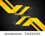 black orange abstract geometric ... | Shutterstock .eps vector #731531191