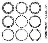 vector set of elegant round... | Shutterstock .eps vector #731533354