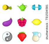 healing infusion icons set.... | Shutterstock .eps vector #731534581